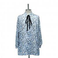 【MiDiom】ミディオム Abstract Pattern Big Shirt White