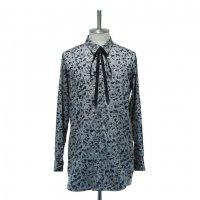 【MiDiom】ミディオム Abstract Pattern Long Shirt Gray