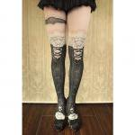 【abilletage】corset tights victorian -black-