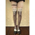 【abilletage】corset tights victorian -brown-