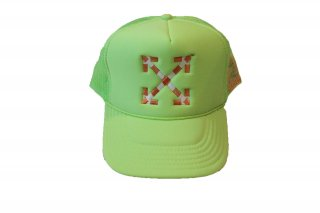 <img class='new_mark_img1' src='//img.shop-pro.jp/img/new/icons14.gif' style='border:none;display:inline;margin:0px;padding:0px;width:auto;' />Virgil Abloh MCA Double Arrow Hat Green