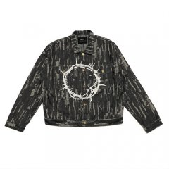 <img class='new_mark_img1' src='https://img.shop-pro.jp/img/new/icons14.gif' style='border:none;display:inline;margin:0px;padding:0px;width:auto;' />ILL IT - CIRCLE DENIM JACKET (BLACK)