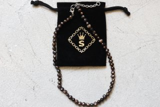<img class='new_mark_img1' src='//img.shop-pro.jp/img/new/icons14.gif' style='border:none;display:inline;margin:0px;padding:0px;width:auto;' />SPARKING potato pearl chain necklace ブラック45cm アジャスター付き3cm-5cm