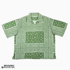 <img class='new_mark_img1' src='https://img.shop-pro.jp/img/new/icons14.gif' style='border:none;display:inline;margin:0px;padding:0px;width:auto;' />MAD EFFECT PAISLEY SHIRT GREEN