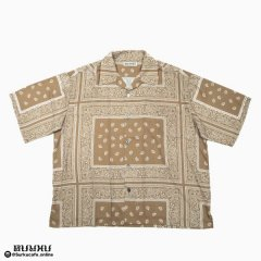 <img class='new_mark_img1' src='//img.shop-pro.jp/img/new/icons50.gif' style='border:none;display:inline;margin:0px;padding:0px;width:auto;' />MAD EFFECT PAISLEY SHIRT BROWN