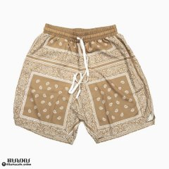 <img class='new_mark_img1' src='https://img.shop-pro.jp/img/new/icons50.gif' style='border:none;display:inline;margin:0px;padding:0px;width:auto;' />MAD EFFECT PAISLEY SHORTS BROWN