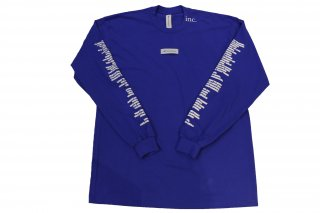 <img class='new_mark_img1' src='//img.shop-pro.jp/img/new/icons14.gif' style='border:none;display:inline;margin:0px;padding:0px;width:auto;' />THE INCORPORATED THE LABEL T SHIRT BLUE