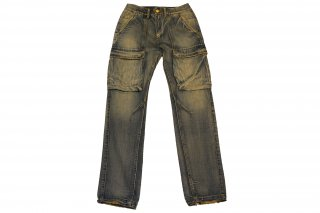 <img class='new_mark_img1' src='https://img.shop-pro.jp/img/new/icons14.gif' style='border:none;display:inline;margin:0px;padding:0px;width:auto;' />mnml Denim Cargo Pants Vintage Blue