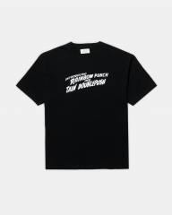 <img class='new_mark_img1' src='https://img.shop-pro.jp/img/new/icons14.gif' style='border:none;display:inline;margin:0px;padding:0px;width:auto;' />TAIN DOUBLE PUSH RAINBOW PUNCH SHORT SLEEVE BLACK