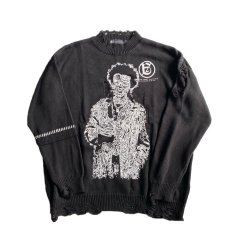 <img class='new_mark_img1' src='https://img.shop-pro.jp/img/new/icons14.gif' style='border:none;display:inline;margin:0px;padding:0px;width:auto;' />A GOOD BAD INFLUENCE - SD SWITCHED SLEEVE KNIT -