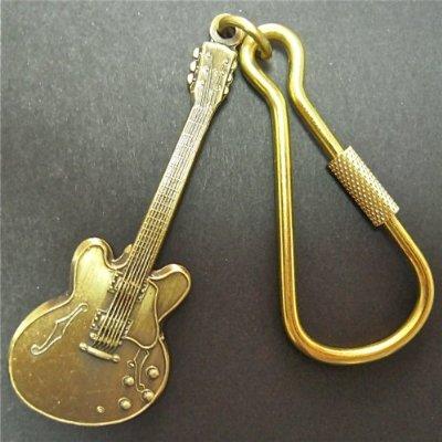 キーホルダー335 アンティークブラス ギター335 Guitar Keychain