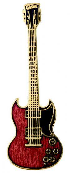 S.G. 赤 ギター ミニピン S.G. Guitar Mini Pin