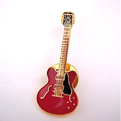 ES-335 ギター チェリーレッド ミニピン 335 Cherry Red Guitar Mini Pin
