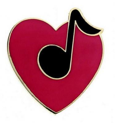 ハートと八分音符 ミニピン Heart w/8th Note Mini Pin