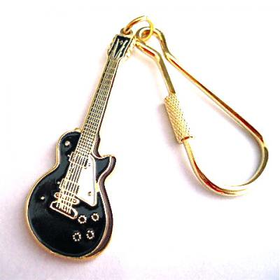 �쥹�ݡ��� �� ������ �����ۥ���� L.P (Black) Guitar Keychain
