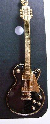 ギブソン レスポール ギター ビンテージ 1959 黒 キーホルダー  LES PAUL VINTAGE 1959 BLACK WITH GOLD