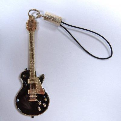 ギブソン レスポール ギター ビンテージ 1959 黒 携帯ストラップ