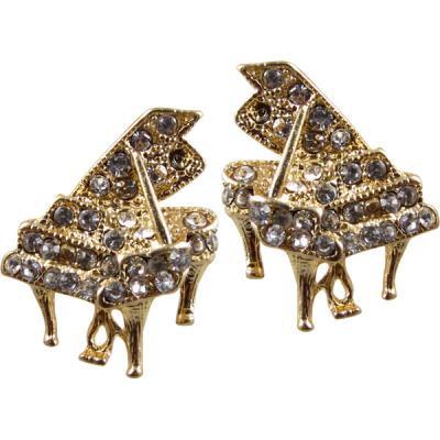 グランドピアノ クリスタル ピアス ゴールド GRAND PIANO CRYSTAL EARRINGS (GOLD) 419