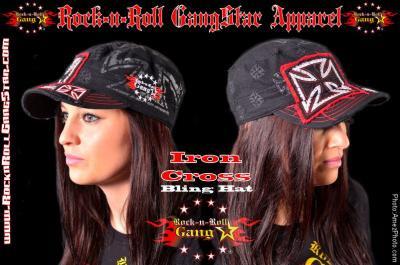 アイアンクロス ブリング ハット 鉄十字柄 帽子 Iron Cross Bling Hat