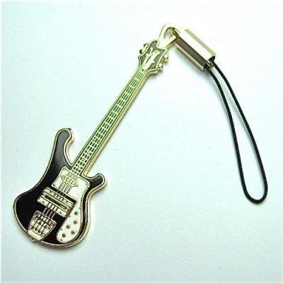 リッケンバッカーベース ギター 携帯ストラップ Rickenbacker Bass Guitar Cell Phone Strap  (黒)