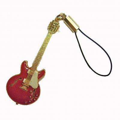 ギブソンES335 チェリーレッド ビンテージ1958 ギター 携帯ストラップ