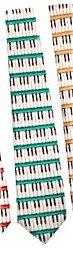 鍵盤 キーボード 薄手 ネクタイ緑 Tie Keyboard 49408