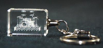 クリスタル ドラムセット キーホルダー Crystal 3-D Drum Set Key Chain