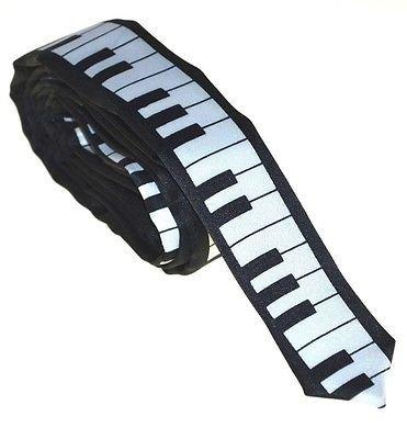鍵盤 キーボード ナローネクタイ 黒 SKINNY TIE KEYBOARD BLACK