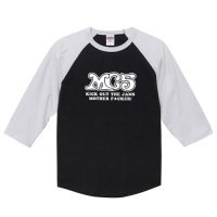 MC5 / ロゴ (キック・アウト・ザ・ジャムズ) - ラグラン七分袖 (4色)<img class='new_mark_img2' src='//img.shop-pro.jp/img/new/icons1.gif' style='border:none;display:inline;margin:0px;padding:0px;width:auto;' />