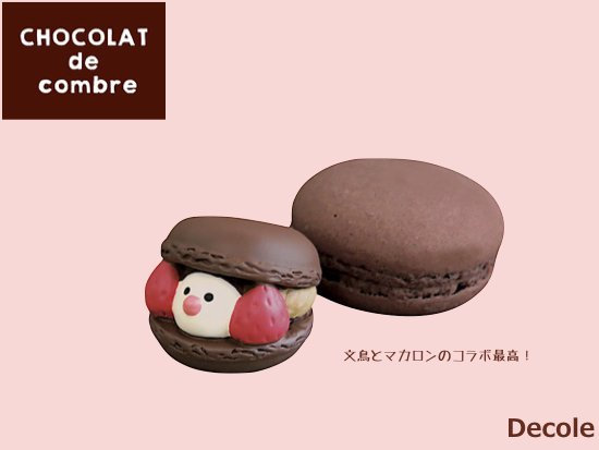 【Decole(デコレ)】concombre 文鳥スイーツ(チョコ)