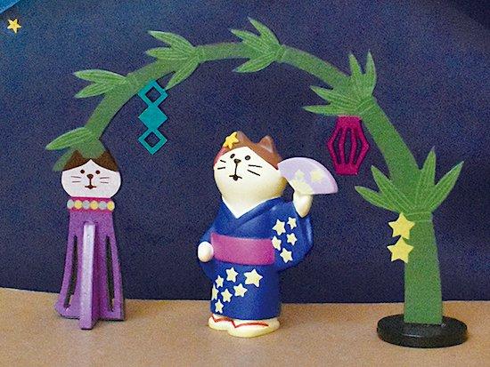 【Decole(デコレ)】concombre 浴衣猫 天の川