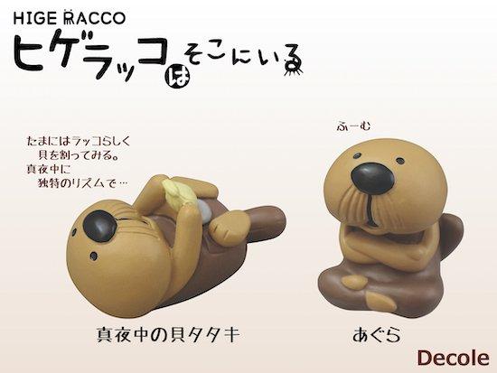 【Decole(デコレ)】HIGE RACCO あぐら&真夜中の貝タタキ