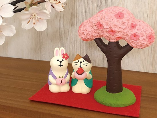 【Decole(デコレ)】concombre 桜うさぎ饅頭&あまおう大福猫