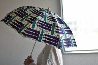 送料無料 晴雨兼用 アフリカンバティックの傘「折畳47� 20020」