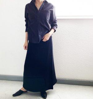 【再販:数量限定 ご予約品】RuiseB オリジナル フィット 巻きスカート(ブラック)