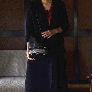【数量限定】送料無料  【Ruise B Original Fusion Leather Bag】 Black×Gray