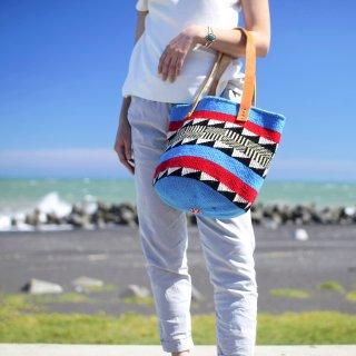 【ケニア】ベーシックバッグ ショルダー「Blue」