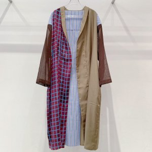 """<img class='new_mark_img1' src='https://img.shop-pro.jp/img/new/icons47.gif' style='border:none;display:inline;margin:0px;padding:0px;width:auto;' />MIFUNE shirt gown""""CHECK the UNION"""