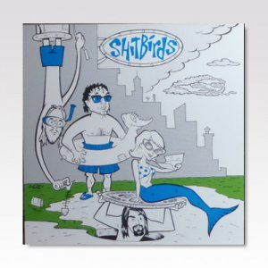Shitbirds : Simon And The Bar Sinisters ‎/ Split / 7