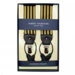 ALBERT THURSTON アルバートサーストン サスペンダー【ゴールド・ブラック ストライプ】