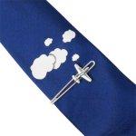 飛行機 タイピン&雲 ネクタイセット