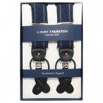 ALBERT THURSTON アルバートサーストン サスペンダー イングリッシュ フランネル ウール ストライプ ブルー
