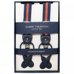 ALBERT THURSTON アルバートサーストン サスペンダー ELASTIC ストライプ ブルー オレンジ