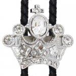 クリスタル 王冠 SWANK スワンク ループタイ ネックレス ポーラータイ ポロタイ ボロタイ 日本製