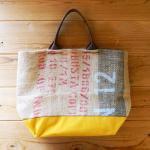 Dungarees Bag ドンゴロスバッグ 0009 【1点ものコーヒー豆麻袋を使ったトートバッグ】