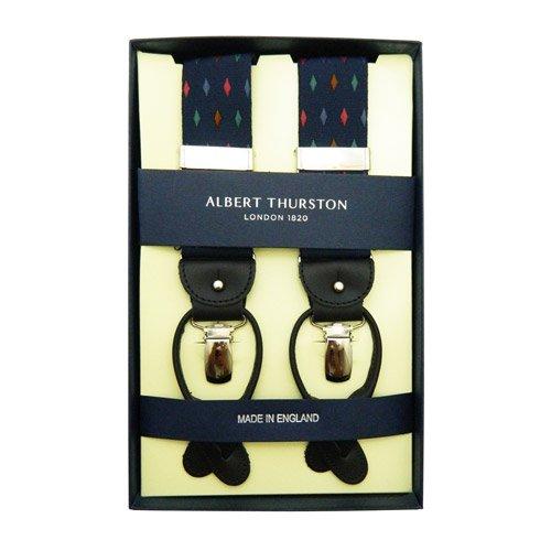ALBERT THURSTON アルバートサーストン サスペンダー【ブルー / カラフル ダイヤ柄】