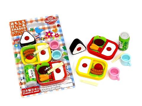 ブリスターパック消しゴム〜ピクニック 【単価¥197】10入