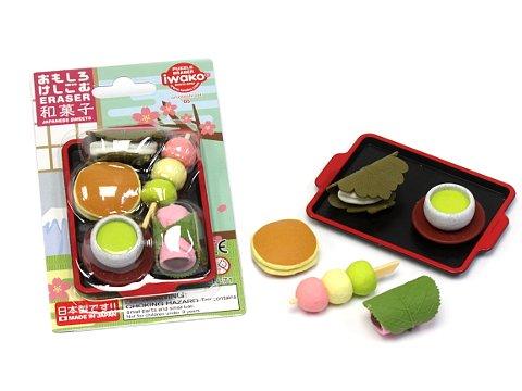 ブリスターパック消しゴム43種〜和菓子 【単価¥197】10入