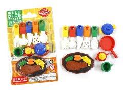ブリスターパック消しゴム43種〜お料理 【単価¥197】10入