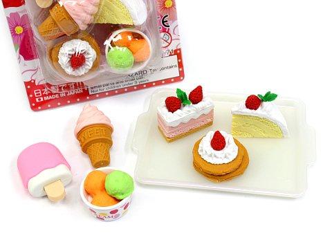 ブリスターパック消しゴム〜ケーキ 【単価¥197】10入